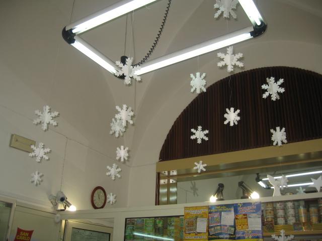 Molto Decorazioni di natale in Polistirolo per negozi - Addobbi natalizi PI62
