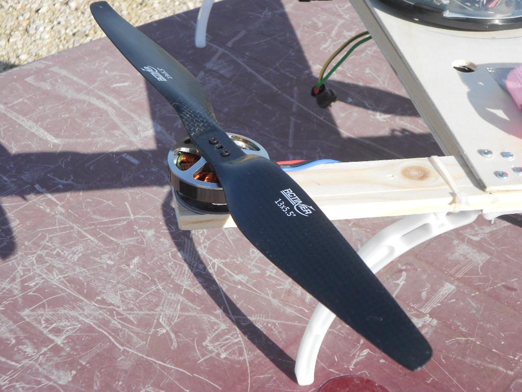 Il motore del drone per riprese aeree